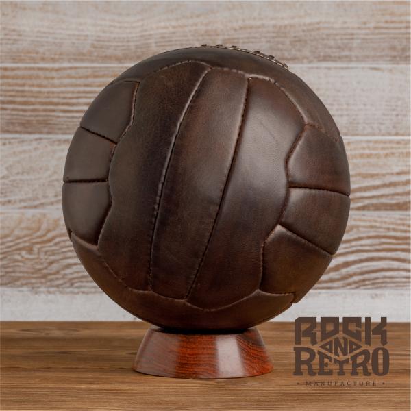 Мяч футбольный World Cup 1950, 18 панелей, тёмно-коричневая кожа