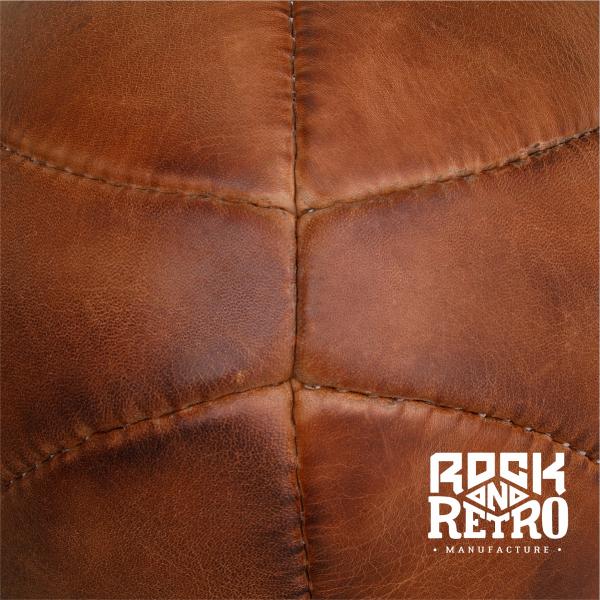 Мяч для регби, размер 5, 6 панелей, коричневая кожа