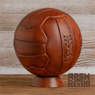 Мяч футбольный World Cup 1950, 18 панелей, светло-коричневая кожа