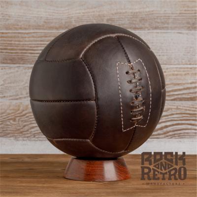 Мяч футбольный World Cup 1934 и 1938, 12 панелей, тёмно-коричневая кожа
