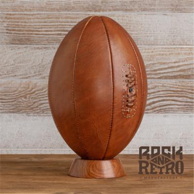 Мяч для регби, размер 5, 8 панелей, светло-коричневая кожа