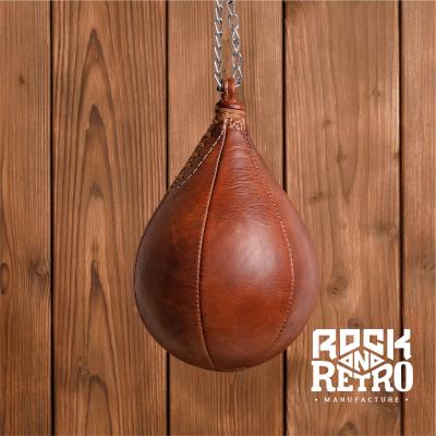 Боксерская груша из светло-коричневой кожи