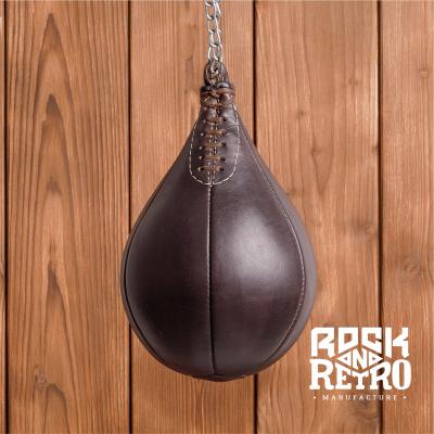 Боксерская груша из темно-коричневой кожи