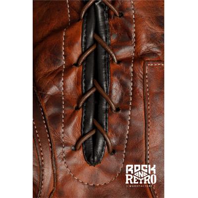 Сувенирные боксерские перчатки из темно-коричневой кожи