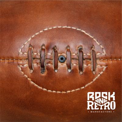 Мяч для регби, размер 5, 4 панели, коричневая кожа