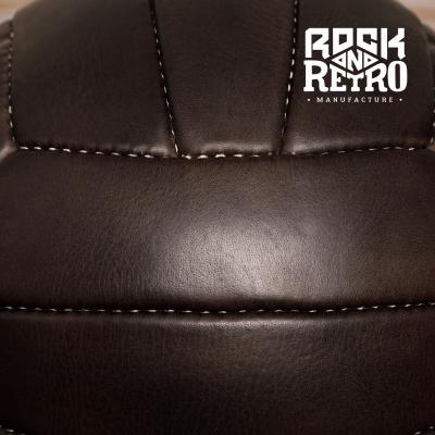 Мяч волейбольный, размер 5, 18 панелей, тёмно-коричневая кожа