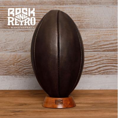 Мяч для регби, размер 5, 6 панелей, тёмная кожа
