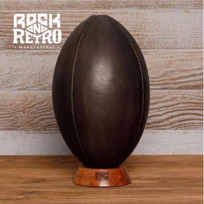 Мяч для регби, размер 5, 4 панели, тёмно-коричневая кожа