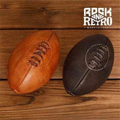 Мяч мини для регби, 4 панели, светло-коричневая кожа