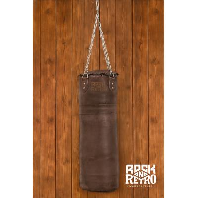 Боксерский мешок из темно-коричневой кожи
