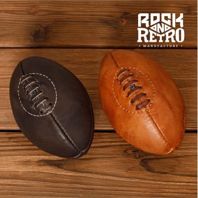 Мяч мини для регби, 4 панели, тёмно-коричневая кожа